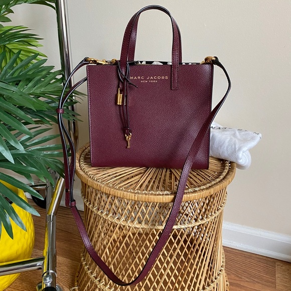 Marc Jacobs Mini Grind Leather Tote in Shiraz
